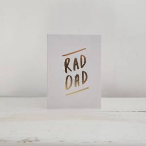 'Rad Dad' Small Greetings Card