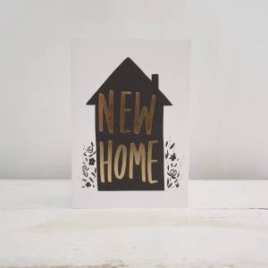 'New Home' Gold Greeting Card