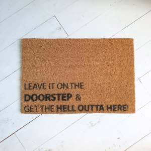 Leave It On The Doorstep Festive Doormat 100% Natural Coir
