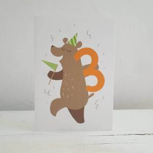 'Party Animal' 3rd Birthday Card