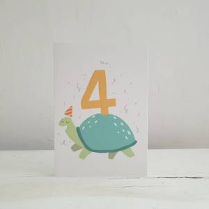 'Party Animal' 4th Birthday Card