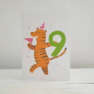 'Party Animal' 9th Birthday Card