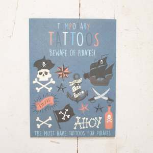 Beware of Pirates Temporary Tattoos by Rex of London