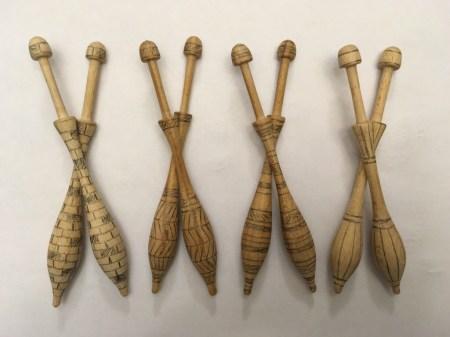 Wooden Bobbins - Set I Progress