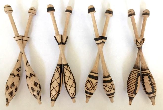 Wooden Bobbins – Set III
