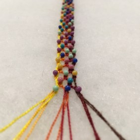 Bobbin Lace - Bracelet Progress II