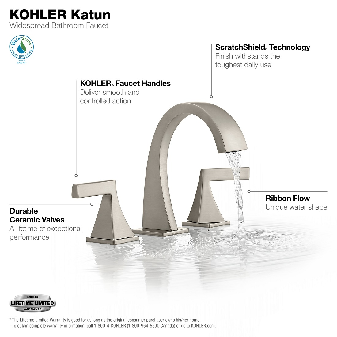 kohler katun single hole or 4 in centerset single handle bathroom faucet in kitchen faucets home garden worldenergy ae