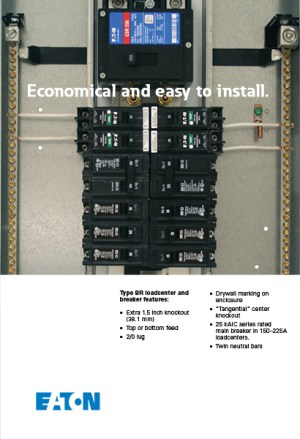 Eaton 100 Amp 20SpaceCircuit Type BR Main Breaker Load Center Value Pack (Includes 6 Breakers