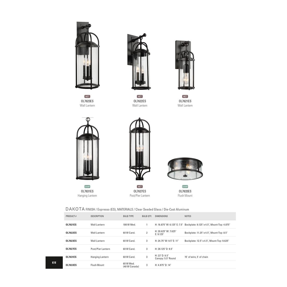 Feiss Dakota 1 Light Espresso Outdoor 16 875 In Wall