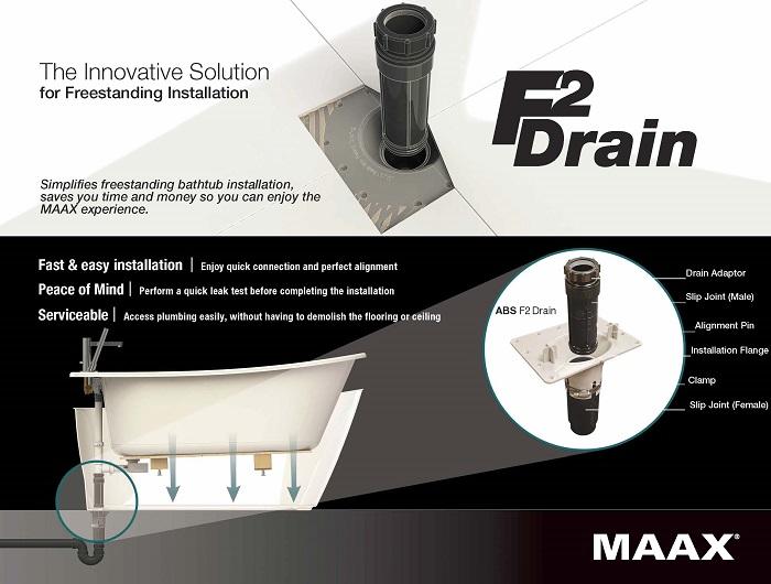 MAAX F2 Drain ABS Kit For Freestanding Bathtub