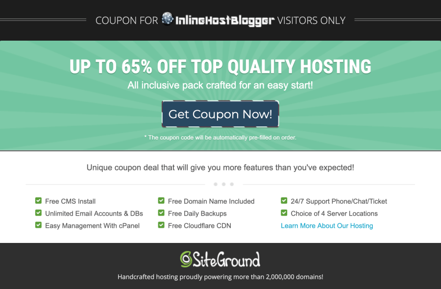 SiteGround-Discount-page