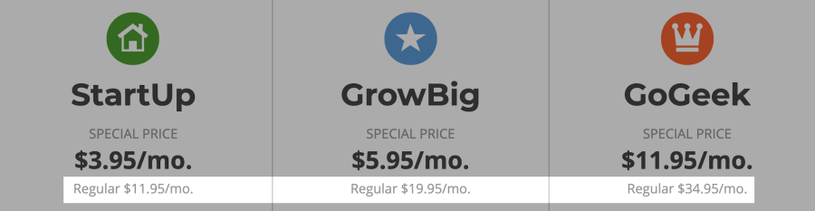 SiteGround High Renewal price