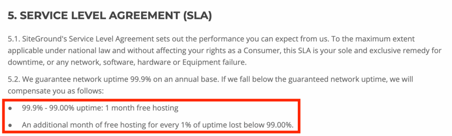 SiteGround-Service-level-Agreement-on-downtime