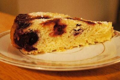 Cherry cornmeal upside down cake