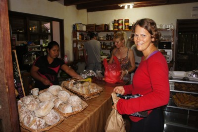 At the bakery in Santa Catalina