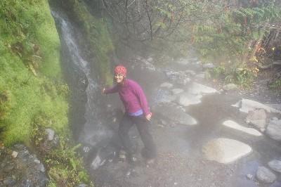 A hot waterfall