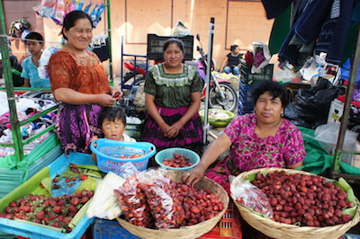 Colourful market in Guatemala