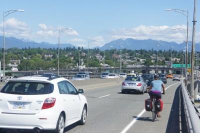 Cycling home - sunny, sunny, sunny Vancouver