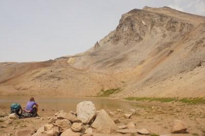 A lake at the base of Mt. Sheba