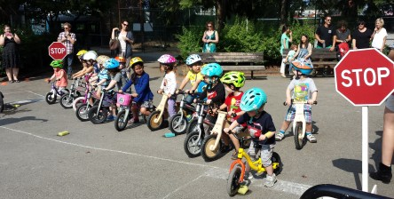 Friday Bike celebration, Eaglets Daycare