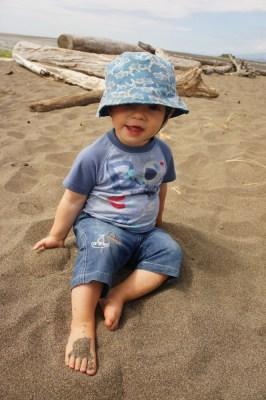 He's a natural beach bum, Iona Beach