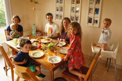 The Abbot family - our hosts in Renners