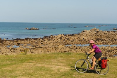 Impressive cycling along the coast