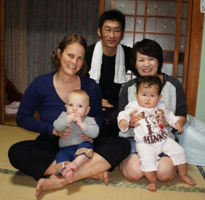 Local family who hosted us in Japan
