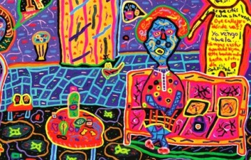 El pintor Humberto Saldarriaga plasma en sus obras el mundo mágico que existe en Perú.