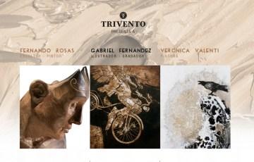 flyer Muestra de Arte Trivento TRIADA