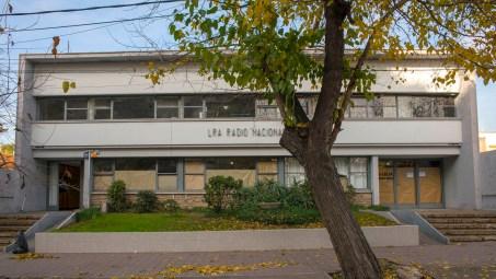 El edificio de Radio Nacional.