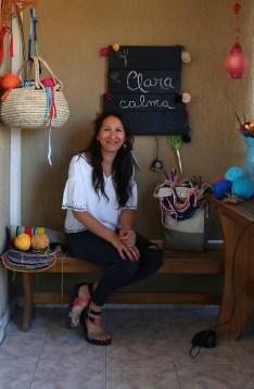 Noelia Ortolani, en su taller.