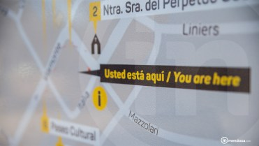 Mapa del recorrido turístico.