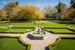 Los jardines inspirados en Francia son un deleite para el visitante.