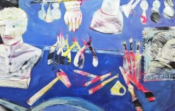 Obra de Cecilia Carreras inspirada en el espacio de creación de Agustina Argerich