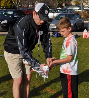 Lacrosse clinic in at Burgess Park, Menlo Park