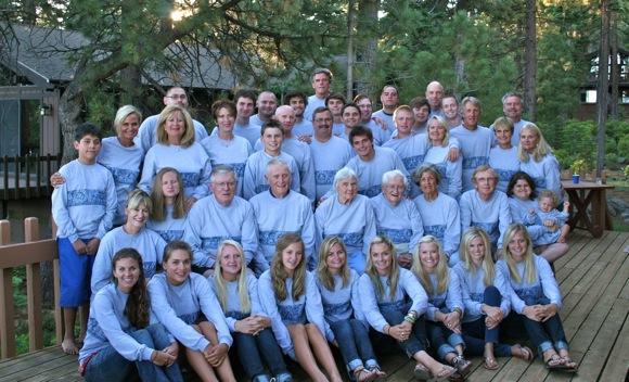 family gathering at Tahoe