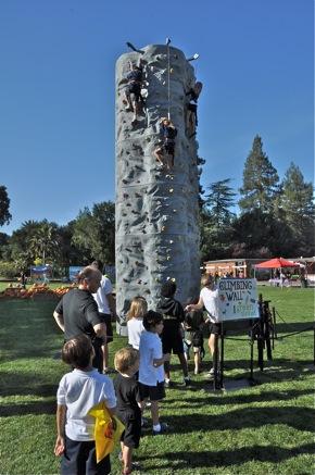 Climbing wall at St. Raymond Pumpkin Festival