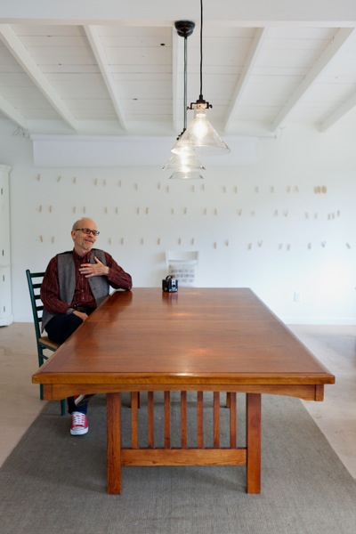 photographer Neal Menschel in his Menlo Park studio