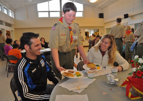 Boy Scout Troop 206 pancake breakfast