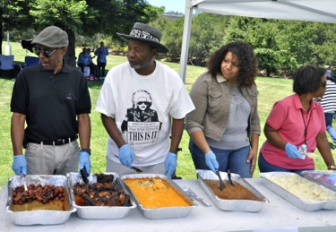 food at SLAC's Juneteenth event