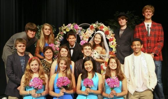 cast of Menlo School's Wedding of the Year