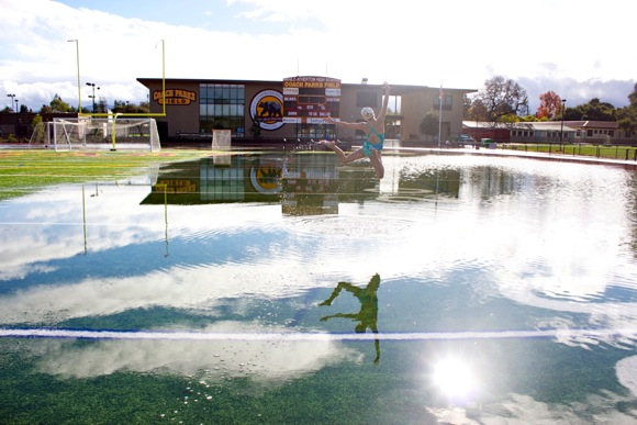 M-A football field underwater