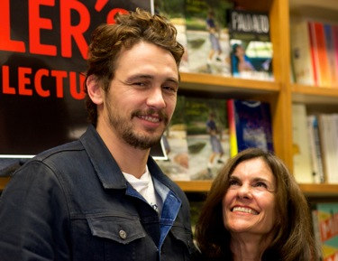 James Franco and mother Betsy at Kepler's in Menlo Park
