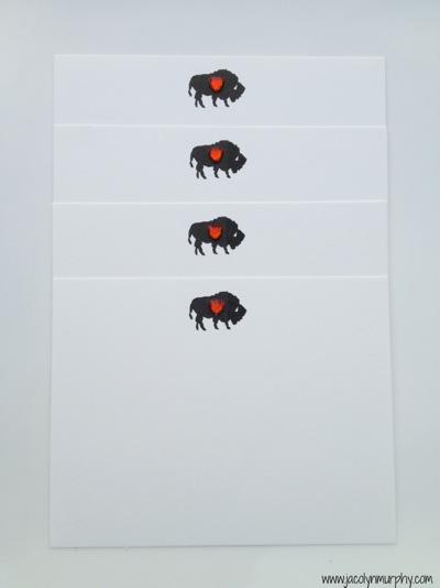 Buffalo with heart_stationery