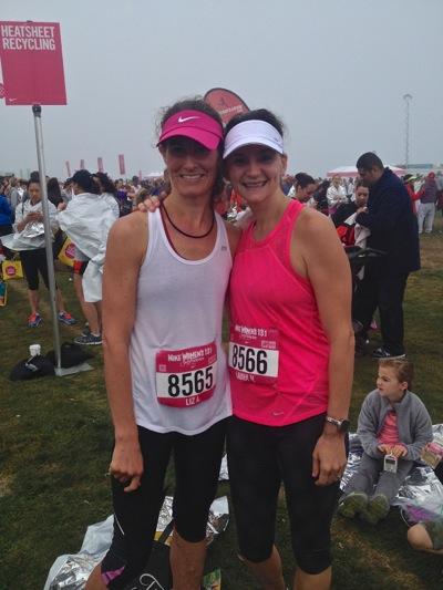 Liz Ashe and Laura Hamilton_Nike half marathon