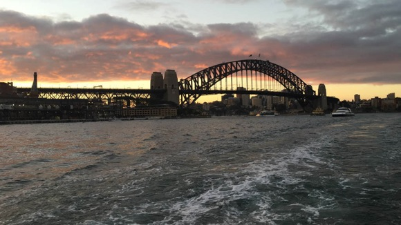 Sydney Bridge at sunset