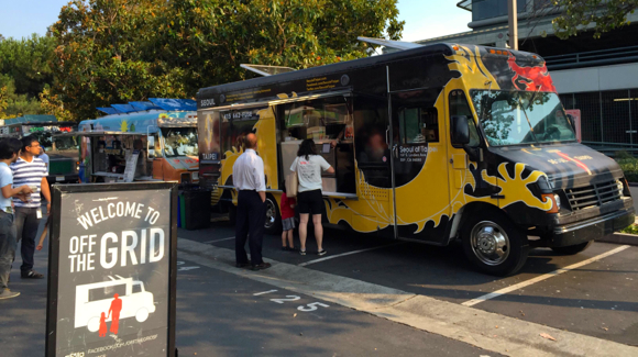Menlo Park Train Station Food Trucks