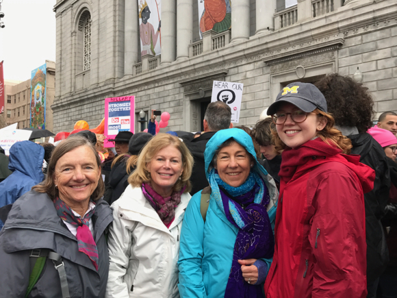 Marty Arscott and friends at SF March - 1
