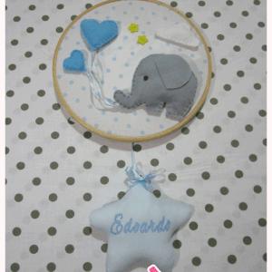 Fiocco nascita con elefantino e palloncini